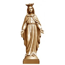 Our Lady of Grace with Crown in Wood - stained 3 col.