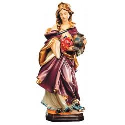 Heilige Elisabeth aus Holz geschnitzt - lasiert