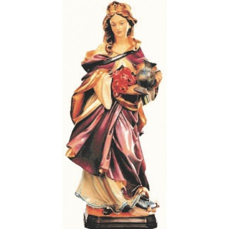 Saint Elizabeth - Dolfi Wooden Statues for Sale - Made in Italy - oil colors