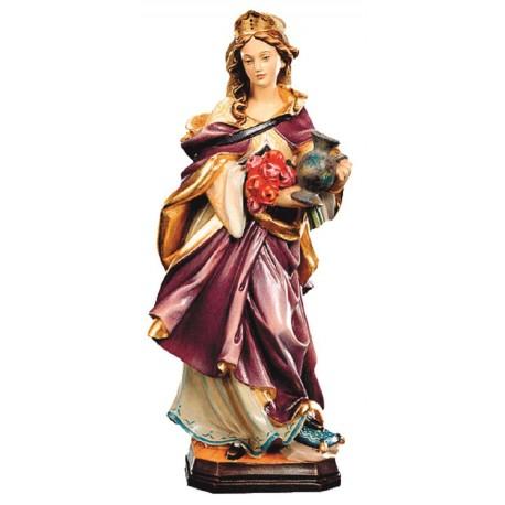 Sant' Elisabetta con brocca in legno - colorato a olio