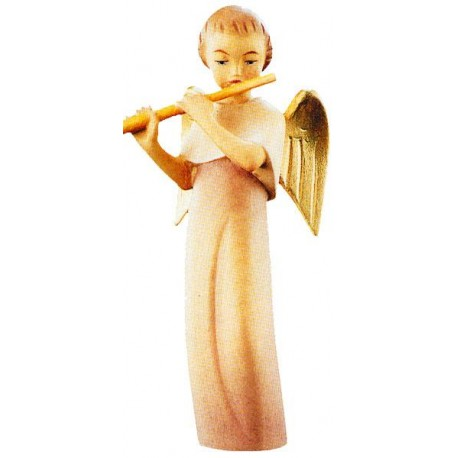 Modern Style Angel with Cross - Dolfi Wooden Angels for Sale - Made in Italy - oil colors