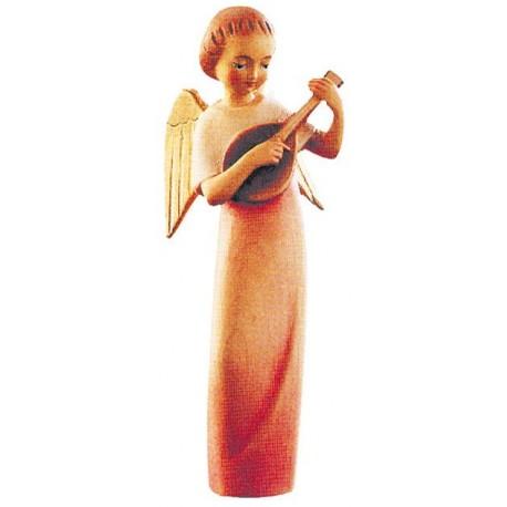 Angelo stilizzato con mandolino - colorato a olio