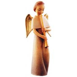 Moderner Engel mit Flöte - lasiert
