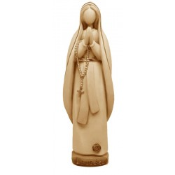 Our Lady of Lourdes Madonna Wooden Statue - stained 3 col.