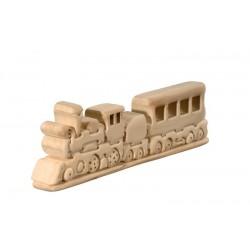 Der Zug 3D Puzzle aus Lindenholz geschnitzt