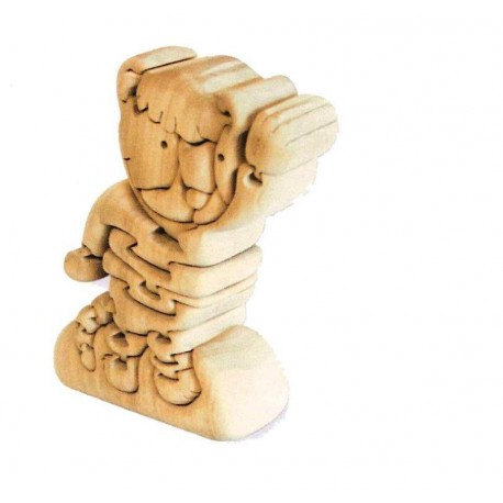The Bear wood carved 3D-Puzzle