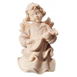 Aggraziato angelo musicista con mandolino e fiori