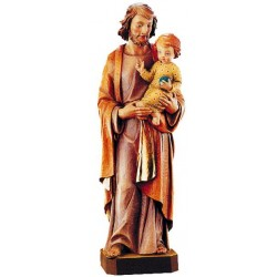 Saint Joseph with Child statue wood carved sculpture
