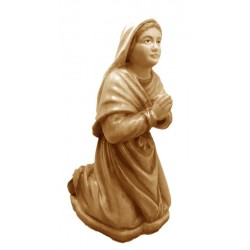Bernadette carved in wood - stained 3 col.