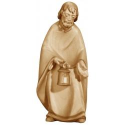 Hl. Josef aus Ahornholz geschnitzt, diese Holzschnitzerei ist eine wichtige Südtiroler Holzfigur - Brauntöne lasiert