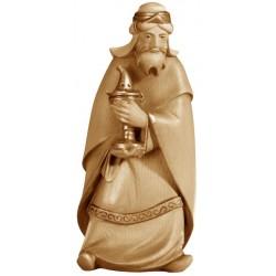 König Weiss Melchior aus Holz - mehrfach gebeizt
