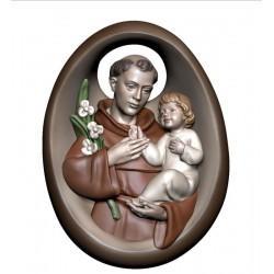 Holz Handschmeichler mit Heiligen Antonius - lasiert