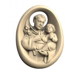 Holz Handschmeichler mit Heiligen Antonius - Natur