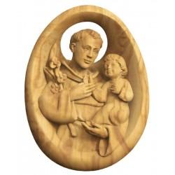 Holz Handschmeichler mit Heiligen Antonius - Olive