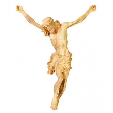 Jesus Christus Körper barock in Ahornholz - Olive