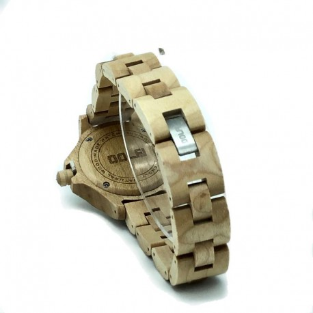 Wooden Watch for Woman in maple with Swarovski – Sunday Mothers Day Gift Ideas 2021 - Made in Italy