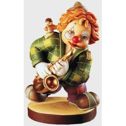 Clown with Saxophone wood