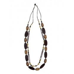 Wooden necklace in brown