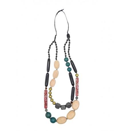Mehr strangige Holzkette mit Perlen