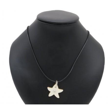 Necklace with star with Swarovski