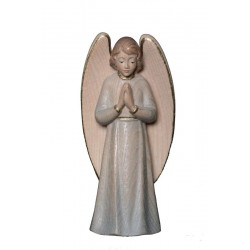 the Praying Guardian Angel - Dolfi Angels wood - Made in Italy - Blue cloth