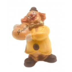 Wooden clown, ask for your name