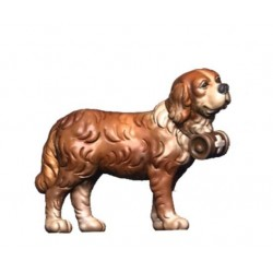 Cane Bernardino in piedi in legno