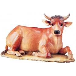 Il Bue animale centrale nella raffigurazione sacra - Dolfi animali per presepe, Val Gardena - colori ad olio