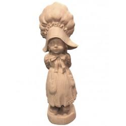 Mädchen mit Puppe Holzfigur