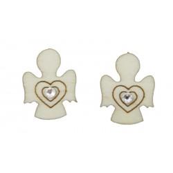 Wooden Earrings with angel