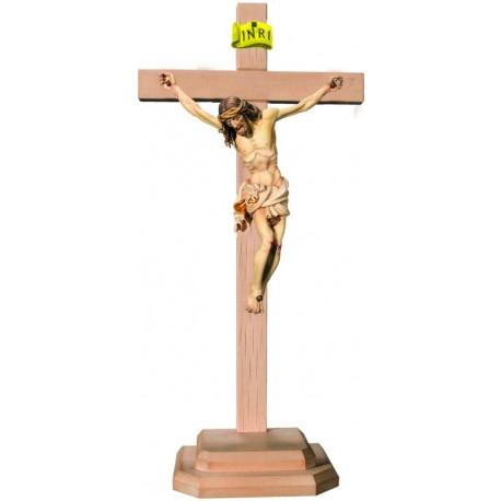 Christuskörper auf Sockel und geradem Balken - Weißes Tuch