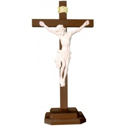 Body of Christ on Straight Cross and Base - natural