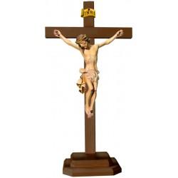 Christuskörper mit Sockel auf Kreuz - Weißes Tuch