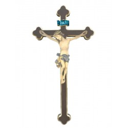 Body of Christ on cross - Blue cloth
