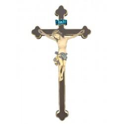 Christuskörper auf Kreuz - Blaues Tuch