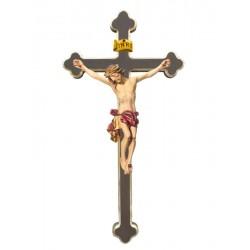Christuskörper auf Kreuz - Rotes Tuch