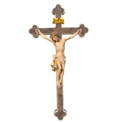 Corpo di Cristo in legno croce barocca - drappo bianco