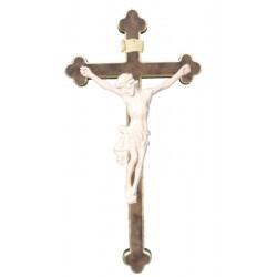 Corpo di Cristo in legno croce barocca - naturale