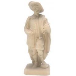 Figura di guardia notturna scolpita in legno d'acero e dipinta a mano con i colori ad olio - naturale