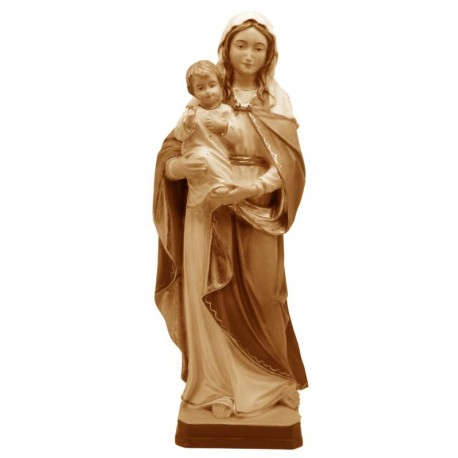 Our Lady of Hope wood statue - stained 3 col.