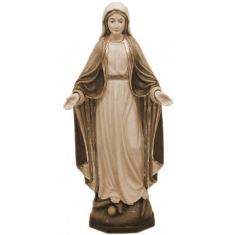 Our Lady of Grace Immaculate in wood - stained 3 col.