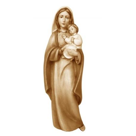Madonna moderna con bambino in legno - brunito 3 col.