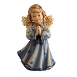 Figura di angelo finemente scolpito in preghiera