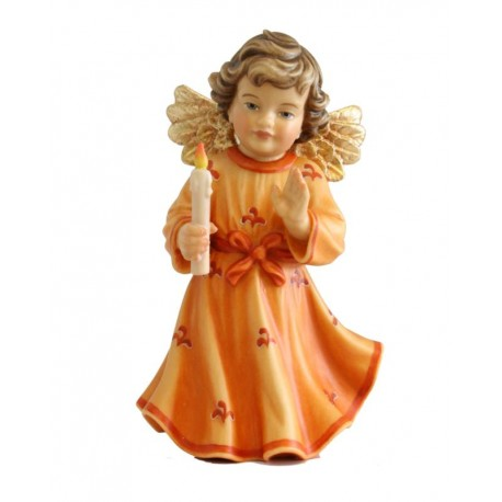 Angel with Candle carved