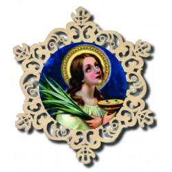 Decoration with Saint Lucia