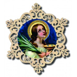 Dekoration mit Hl. Lucia zum aufhängen