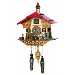 Quartz Cuckoo Clock Chalet with mill wheel