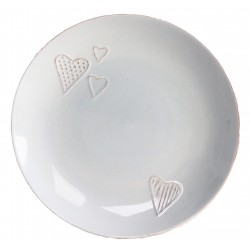 Ceramic plate with little hearts