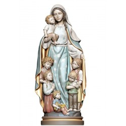 Blessed Mother with children of the world - color