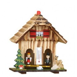 Black Forest weather house with man and woman